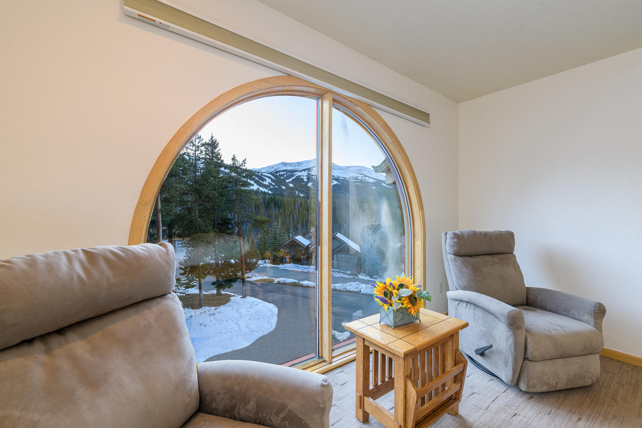 Take in the views of Breckenridge from the cozy sitting area in the Master Bedroom.