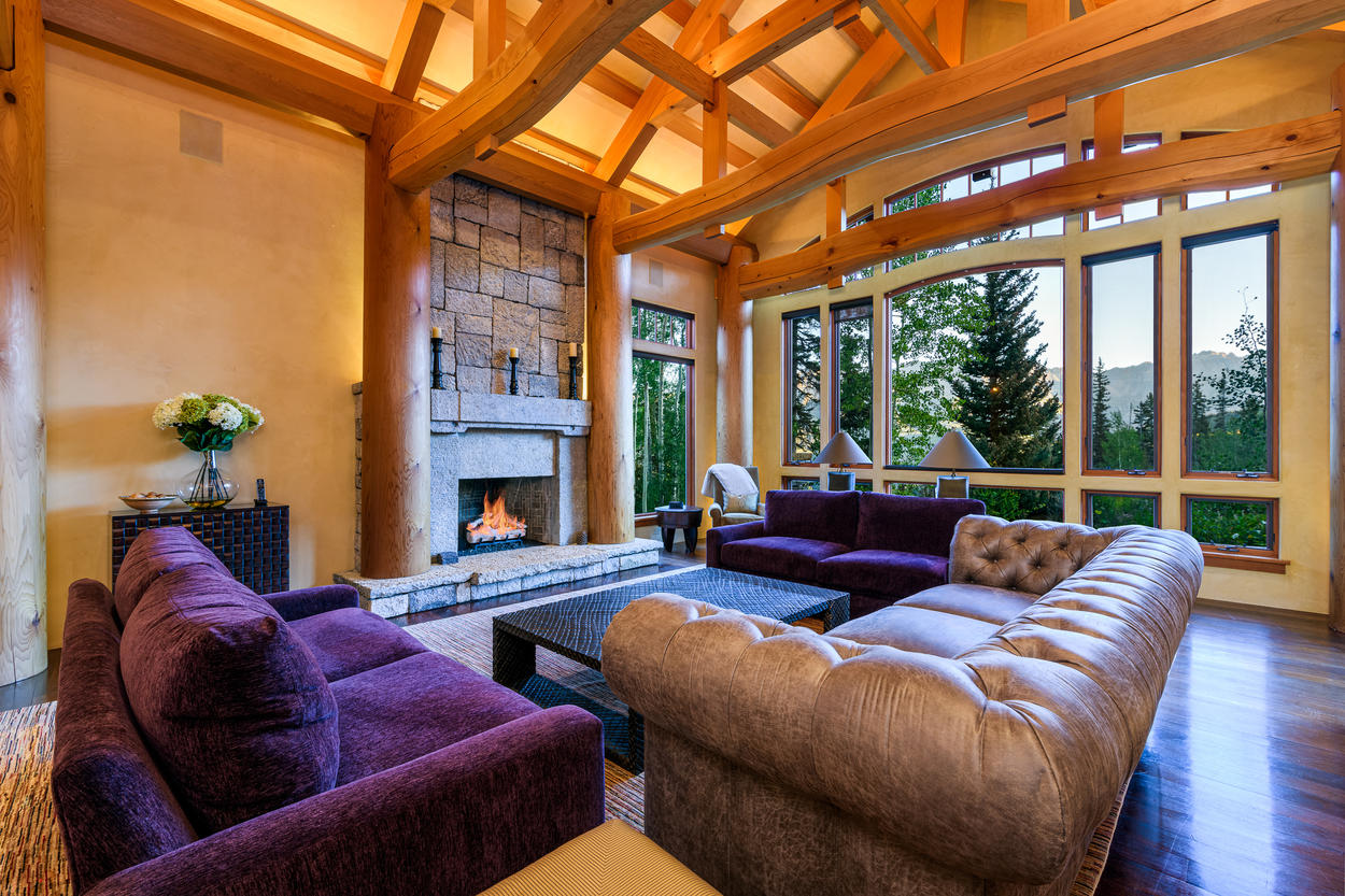 Plush Lounging space with Stunning Views