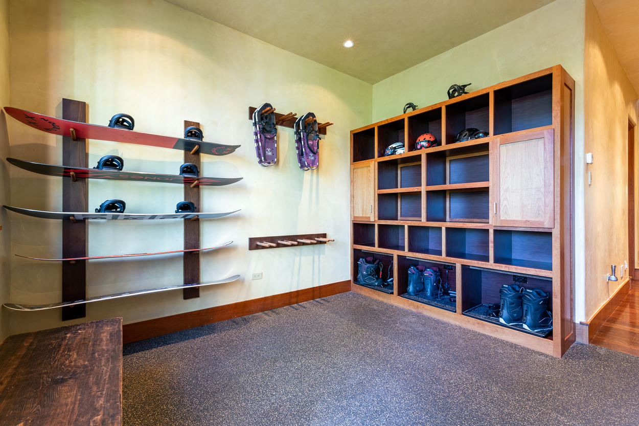 Mud Room and Ski Locker for Ski In / Ski Out Ease of Access