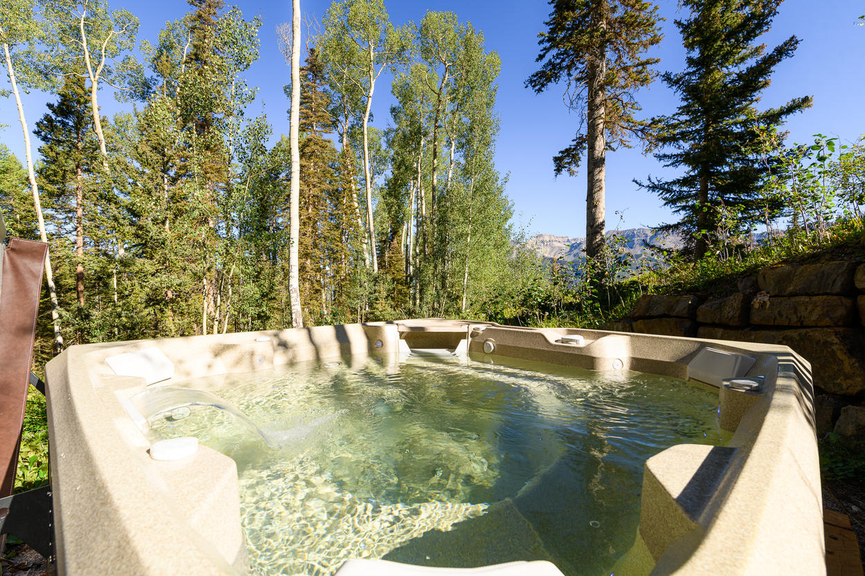Sit back and Relax in a Nestled Private Hot Tub just off of the Slopes