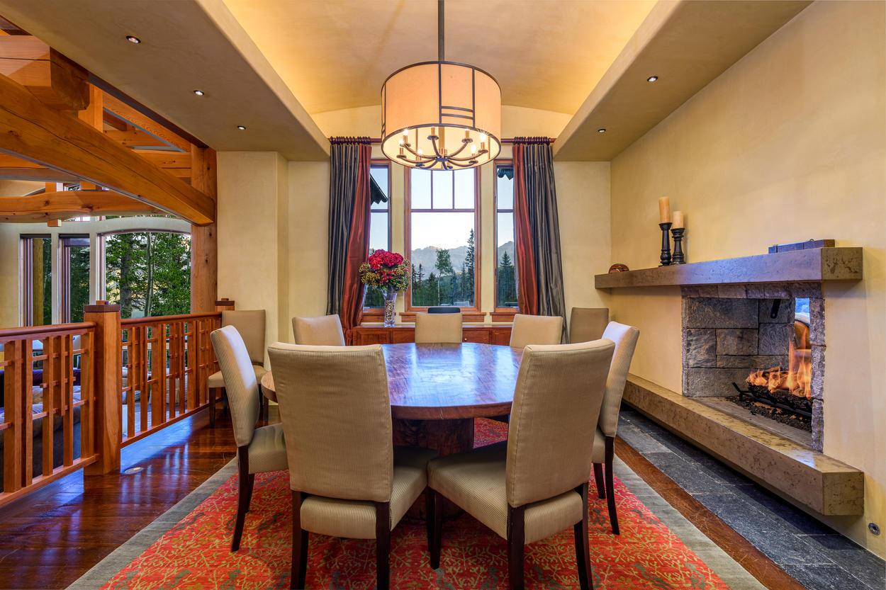 Enjoy friendly meals near the Cozy Fireplace