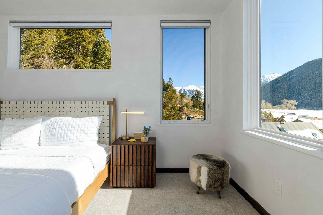 Striking views from the Master Bedroom