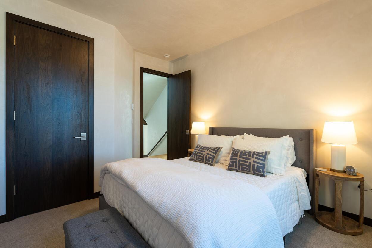 Queen Guest Bedroom with a clean design