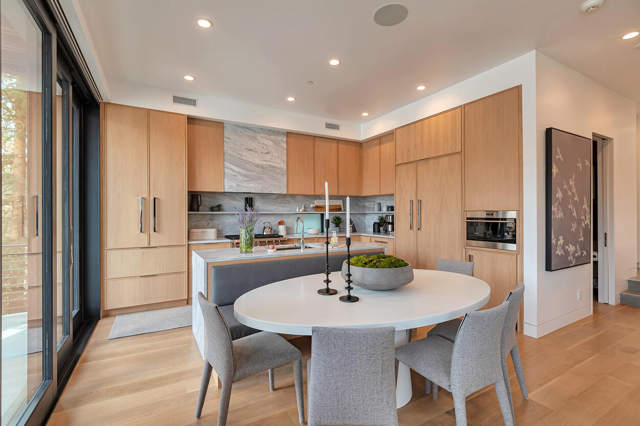 Open layout Kitchen, Dining and Living room