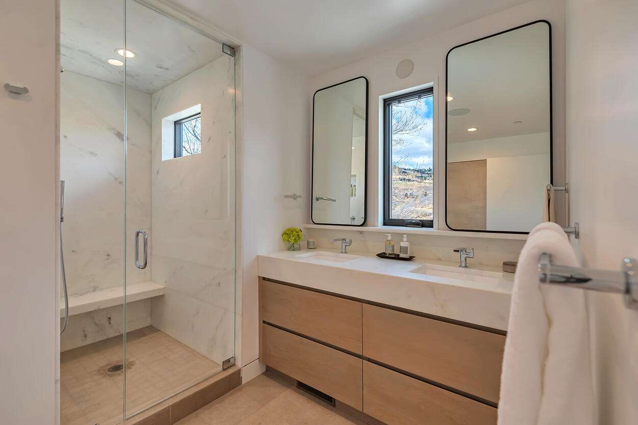 Master En Suite with dual sinks, and lush shower