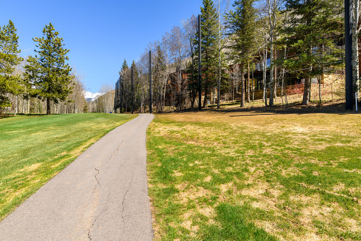 Walking paths, and golf course views